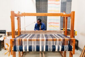 White And Blue Loom