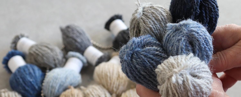 Blue Wool Heather Yarn